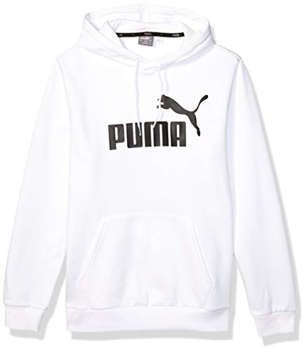 PUMA Herren Essential Hoodie Fleece Big Logo Sweatshirt Kapuzenpulli, Weiß, Medium
