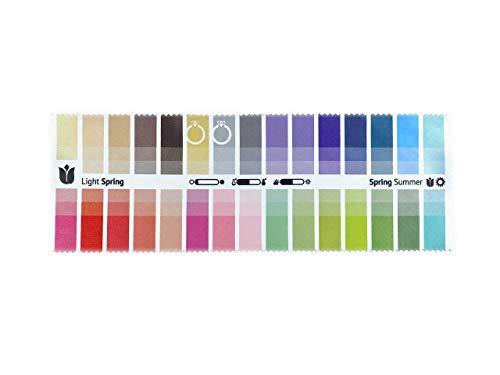 Stoff-Farbpass Frühling-Sommer (Light Spring) mit 30 typgerechten Farben zur Farbanalyse, Farbberatung, Stilberatung