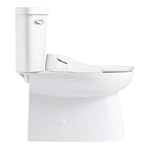 Sterling Plumbing 402095-NV-0 2-Piece Toilet with ReadyLock Technology Novita Washlet + Brella Elongated Comfort-Height Skirted, White
