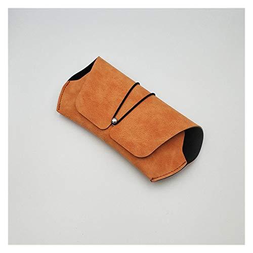 De moda y exquisito 2 PCS Caja de vidrios creativos Caja de la caja suave Myopia Lentes Caja simple Retro Retro Anti-Presión Portátil Cuero Matte Gafas de sol Sólido para mujeres hombres ( Color : A )