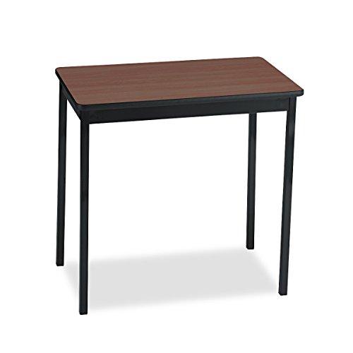 Barricks Utility Table, Rectangular, 30w x 18d x 30h, Walnut/Black