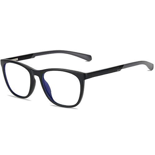 Gimdumasa Blaulichtfilter Brille Computerbrille Zum Blockieren Von UV-Kopfschmerz Gaming Brille Damen Herren (2310 Schwarz)