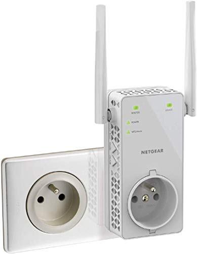 Netgear Repeater Wifi AC 1200Mbps Dual Band–Verbessert Ihre WiFi–Kompatibel mit allen Box Internet–Schnelle Installation––Modus Zugangspunkt optional