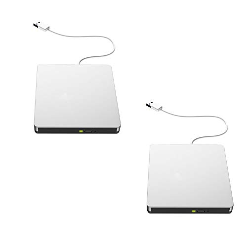 JFF USB3.0 Mobiles Optisches Laufwerk DVD-Brenner Externes Notebook Desktop Optisches Laufwerk Externes Optisches Laufwerk 2Er Pack