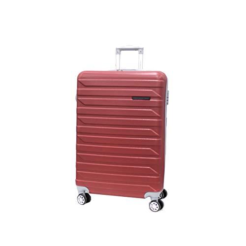 COVERI COLLECTION Trolley cabina valigia viaggio bagaglio a mano abs 8 ruote 8081-1 rosso scuro