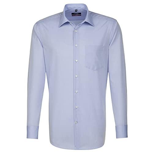 Seidensticker Herren Business Hemd Regular Fit Langarm, Blau (Light Blue), 45