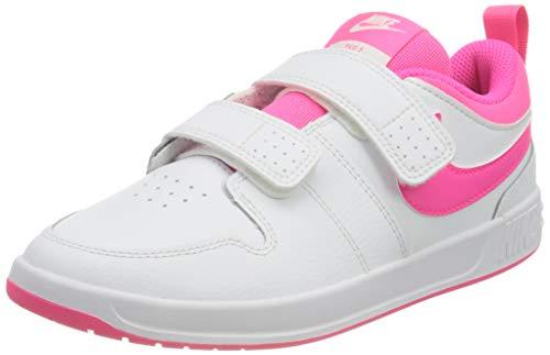 Nike Pico 5 Tennis Shoe, White/Hyper Pink, 34 EU