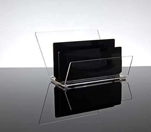 Slato Porta Posta e portalettere da scrivania Ufficio Design Moderno in plexiglass Idra a Tre Scomparti