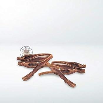 Gespetfood - Viande Séchée pour Chien - Sac de 1 kg - Bandes de Bœuf Séchées pour Chiens - 15 cm - Goût Bacon - 100% Bœuf - Os a Macher pour Chien - sans OGM - Gommes Saines - Fabriqué en Espagne