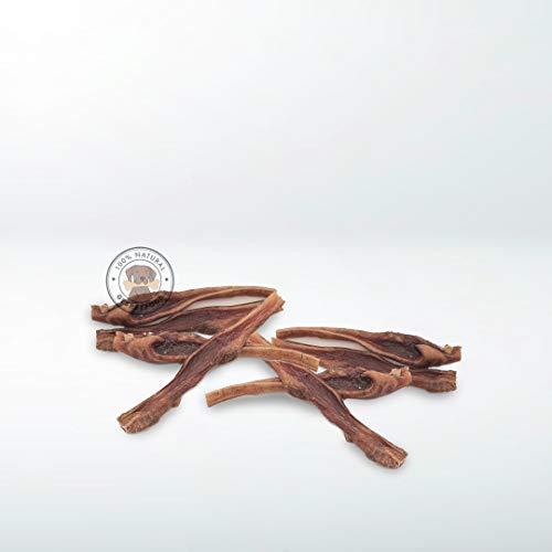 GESPETFOOD - Snack Deshidratado para Perros - Bolsa de 1kg - Tiras de Piel de Vacuno para Perros - 15 cm - Sabor Bacon - 100% Vaca - Sin OGM - Encías Saludables - Fabricado en España