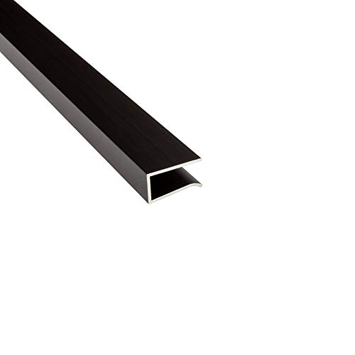 G03 LED Glaskantenprofil Kühlprofil Schwarz 2m