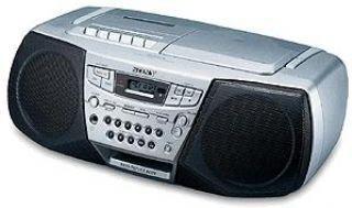 Sony CFD-S22L portátil CD-Radiorekorder Plata