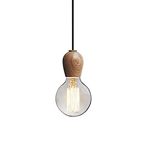 yoeeku Plafondlamp Loft Retro antiek E27 fitting van hout plafondlamp voor bar, magazijn, woonkamer, slaapkamer, deur, eetkamer