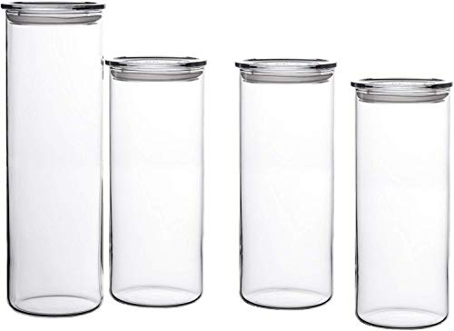 Bohemia Cristal - Tarros para conservar alimentos (4 unidades, (1 x 1.8 L y 3 x 1.4 L)