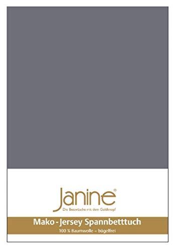 Janine Spannbetttuch 5007 Mako Jersey 90/190 bis 100/200 cm opalgrau Fb. 48