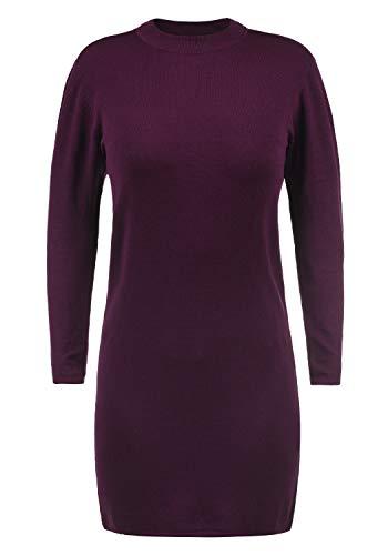 JACQUELINE de YONG Kelly Damen Strickkleid Feinstrickkleid Mit Turtle-Neck Kragen, Größe:L, Farbe:Potent Purple