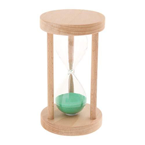 Múltiples Patrones Reloj De Arena Niños Lectura/Cepillado Cronómetro Sandglass 3/5/10/15/30 - Verde, 15 Minutos