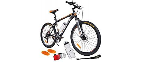 BDW Mountainbike Shimano 18 Gang Schaltung, Scheibenbremse 26 Zoll Reifen   18 Zoll Rahmen MTB   Additive ! VIELE Farbe (Orange)