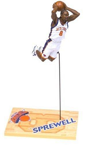NBA 3 Latrell Sprewell New Yorks Knicks White Jersey Action Figure