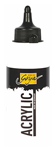 Kreul 84201 - Solo Goya Acrylic, cremige vielseitig einsetzbare Acrylfarbe in Studienqualität, auf Wasserbasis, schnell und matt trocknend, gut deckend, wasserfest, 250 ml Flasche, weiß