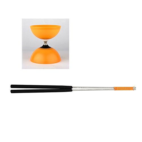 Henrys J04052-13 - Yo-Yo, Diabolo Vision Free Set, Including handsticks, Orange