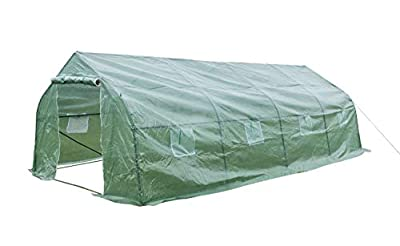 GOJOOASIS Greenhouse Walk-in Green Garden Hot House Outdoor Large Portable Arch Gardening Plant Shed
