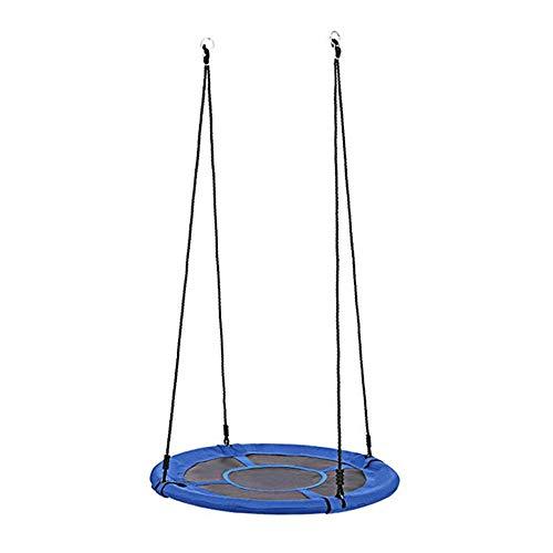 Auto Tire Disc Oxford Doek Outdoor Boom Swing, Ronde Waterdichte Tuinstoel, Verstelbare Hangende Touwen Eenvoudig te installeren, voor Achtertuin Speelplaats-32 Inches, Blauw