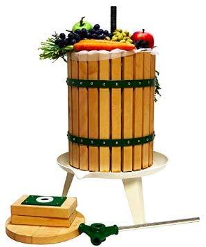 DMS® Obstpresse Saftpresse Maischepresse Presse Weinpresse Apfelpresse Obstmühle mechanische Presse Manuelle Fruchtpresse Saftpresse (18 Liter)