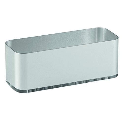 iDesign Metro El Organizador de Fregadero para Esponja y Estropajo es Ideal para ambientes húmedos, Plateado, 16.84x6.68x8.89 cm