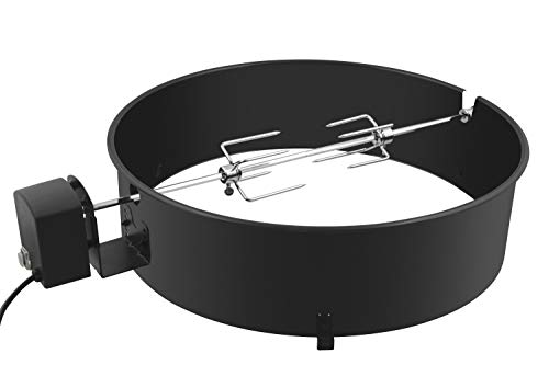 Drehspieß mit Motor Grillspieß-Aufsatz Set f. Kugelgrill Rotisserie Gas-Grill