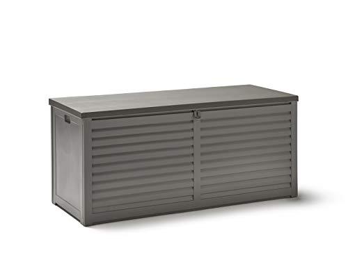 KitGarden - Arcón Multiusos de Exterior, Capacidad 390L, 143,5x53,5x57cm, Gris, Multi Storage...