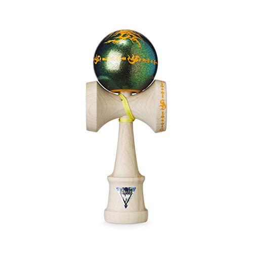 Original KROM Pro Kendama - Slaydawg Da Gang Sun Dawg - Geschicklichkeitsspiel für draußen und drinnen - Holzspielzeug mit Schnur und Ball - Kendama Skilltoy Kugelfangspiel
