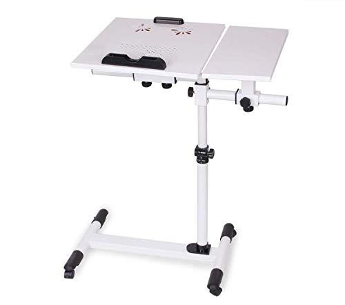 Klaptafel tuintafel eettafel inklapbare computertafel rijstoel luider laptoptafel land en ventilator radiator bed thuis draaibaar nachtkastje (kleur: wit) wit