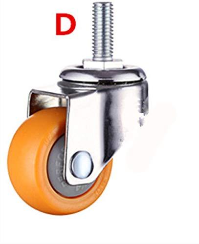 Feiner 4 STK. 1,25 Zoll 32 mm Hochleistungs 80 kg Orange Schwenkbare Lenkräder Trolley Möbel Caster PC, D125,1,25 Zoll