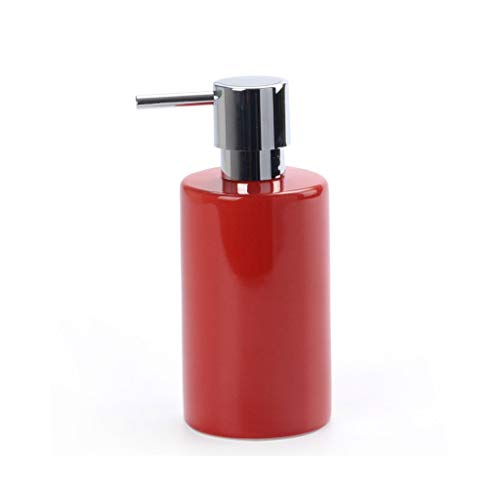 YIFEI2013-SHOP dispensador de jabón Dispensador de jabón Minimalista Moderno Aseo champú Gel de Ducha Limpiador de contenedores Limpiador de Botellas de Mano Soap Dispenser (Color : Red)