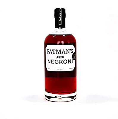 Fatman's Aged Negroni, Premium Hand Crafted Cocktails, Pre mixed Cocktails, International Award Winning Cocktails, Gin Campari Sweet Vermouth,