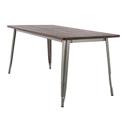 SKLUM Tisch LIX gebürstet Holz (160x80) Eisen Dark (mehr Farben)
