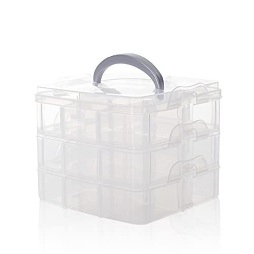 SacJkt Caja Almacenamiento Plástico, Caja De Almacenaje, Caja De Almacenamiento Transparente Desmontable...