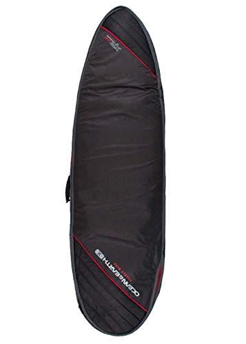 Ocean & Earth Fish Surfboard Bag Doppia Larghezza 10mm 1,8m 4–Nero/Rosso