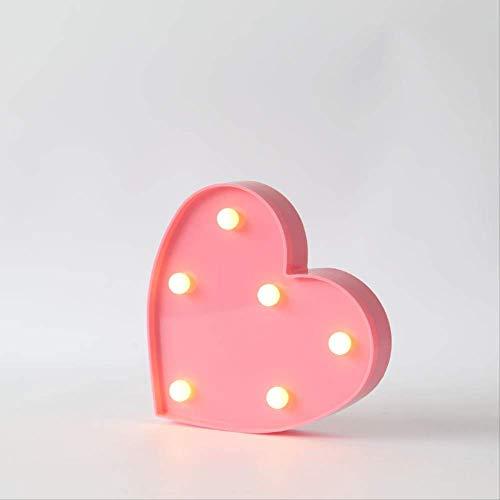 Het symbool, dat lampenhuwelijksnachtlichtlieve gemodelleerd, geleid licht roze