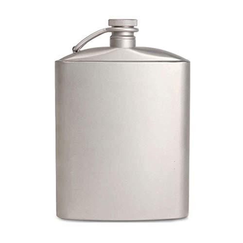 Mini frasco de la cadera de titanio puro, la funda de bolsil
