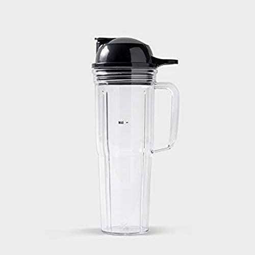 NutriBullet 24 oz Travel Cup with To Go Lid Clear Black product image