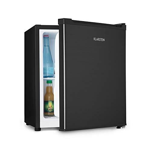 Klarstein Snoopy Eco - Mininevera con congelador, 46 litros de capacidad, Congelador de 4 litros de capacidad, 41 dB, Silencioso, Bajo consumo, Negro