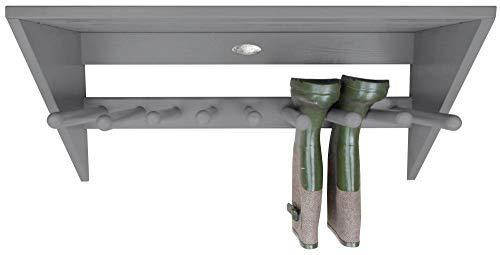 Esschert Design Wandstiefelhalter, grau, 76 x 31.3 x 35, CF49G