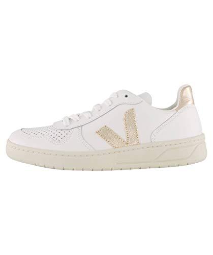 Veja Damen Sneaker V-10 Leather weiß/Silber (725) 40EU