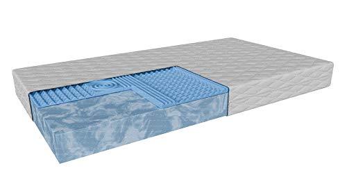 Kindermatratze | Pesaro | Matratzenschaum 7-Zonen-Profilschaum | Höhe: 9cm | H3/H3 -mittelhart | Wende-Matratze | Abnehmbare antiallergische Abdeckung (90 x 200 cm)