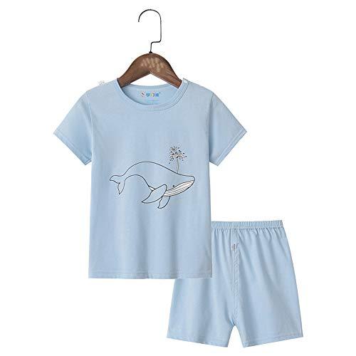 Chickwin Conjuntos de Pijama para Niñas, 100% Algodón Pijamas de Manga Corta para niñas Niños Bebés 12 Meses~7 Años Lindo Estampado
