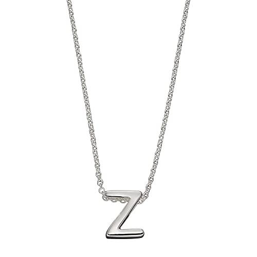 Beginnings - Collar de plata de ley 925 para mujer, adolescente, niña, hombre, niño, letra Z, 41 cm + 5 cm
