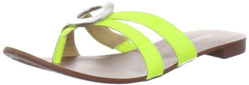 Nine West Women's Racket Thong Sandal,Yellow,7.5 M US