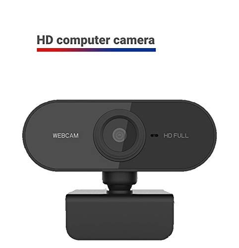 HD 1080p Webcam,Built-in Noise Reduction Microphone Stream Webcam,USB HD Webcam for PC Desktop Laptop Mac Xbox,Be Used for Video Calling, Studying, Conference, Recording, Gaming with Rotatable Clip. (Renewed)